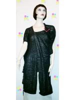 Оригинальное платье с поясом в стиле деконструктивизма